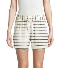 french terry stripe shorts