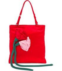 prada blossom handbag - red