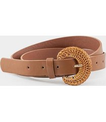 lyric rattan buckle belt - cognac
