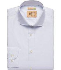 joe joseph abboud light blue dot slim fit dress shirt