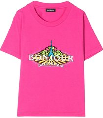 pink bonjour t-shirt