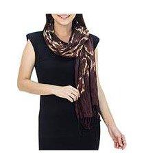 silk scarf, 'cocoa dance' (thailand)