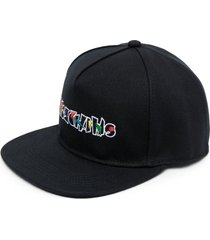 moschino embroidered-logo six-panel cap - black