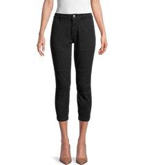 current/elliott women's cotton-blend cropped pants - caviar - size 25 (2)