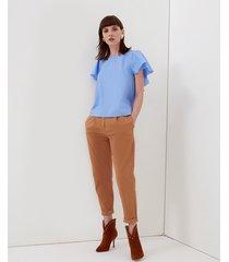 motivi pantaloni chino donna marrone