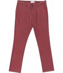 pantalón casual 340 vinotinto unicolor slim fit para hombre 02265
