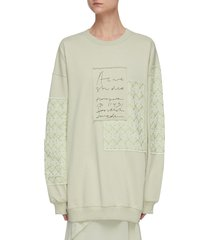 jacquard-patches handwritten logo embroidered sweatshirt