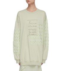 jacquard-patches handwritten logo embroidered sweatshirt