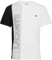 men s tee-shirt t-shirts short-sleeved multi/mönstrad lacoste