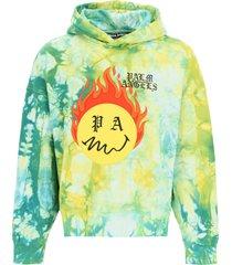 palm angels tie-dye burning hoodie