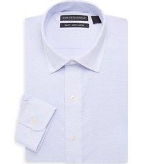 trim-fit neat dress shirt