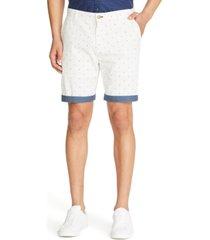 """tallia men's slim-fit star print 9"""" shorts"""