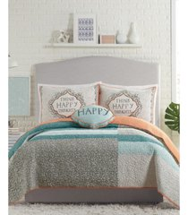 molly hatch by makers collective happy thoughts 3-piece king quilt set