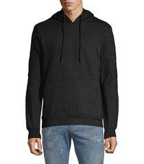 eleven paris men's basic seamed hoodie - grey - size s