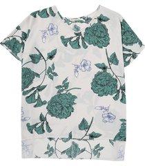 blusa blanca-verde paris district