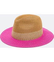 chapéu panama liso com aba pink