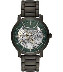 kenneth cole new york men's gunmetal stainless steel bracelet watch, 42.5mm