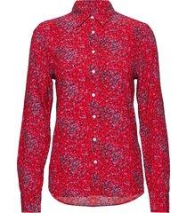 o2. snowdrop spread shirt blouse overhemd met lange mouwen rood gant