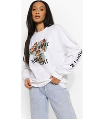 l'amour sweater, white