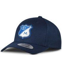 gorra oficial azul oscura millonarios flexfit otocaps fmip-001 azul oscura