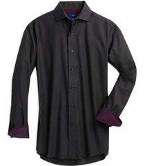 egara charcoal dot slim fit sport shirt