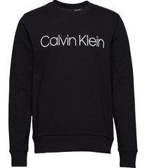 cotton logo sweatshirt sweat-shirt trui zwart calvin klein