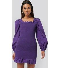na-kd trend smocked mini dress - purple