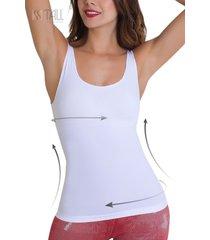 camiseta control light plus blanco tall