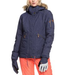 roxy juniors' meade hooded faux-fur-trim active jacket
