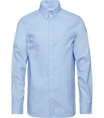 button down washed o skjorta business blå calvin klein