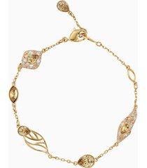 bracciale decorativo graceful bloom, marrone, placcato oro