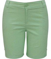 shorts pau a pique verde - verde - feminino - dafiti