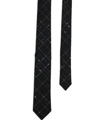 saint laurent tie cravate carreaux
