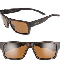 women's smith outlier 2 57mm chromapop(tm) polarized square sunglasses - matte tortoise