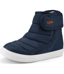 botas agility mini piel de peluche azul bibi