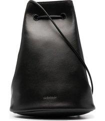 jil sander mini crossbody pouch - black