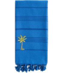 linum home summer fun breezy palm tree pestemal beach towel bedding