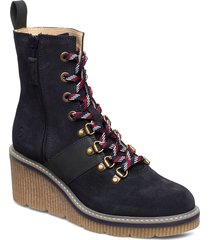 boots shoes boots ankle boots ankle boot - heel blå tamaris