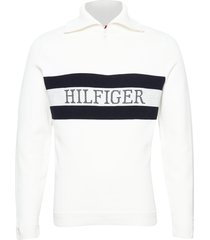 chest branded zip mock sweat-shirt trui wit tommy hilfiger