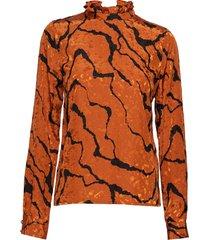 aylingz blouse ma19 blouse lange mouwen oranje gestuz