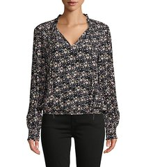 resolution smocked floral blouse