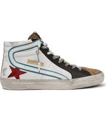men's golden goose slide high top sneaker, size 12us - white