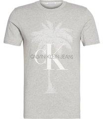 camiseta de algodón orgánico con logo calvin klein
