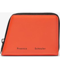 proenza schouler trapeze zip wallet hot coral/yellow one size