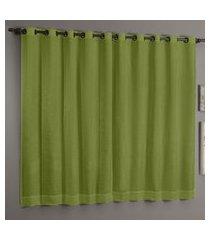cortina sultan casa d oro cetim amassado 200x180cm verde