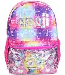 mochila pacific escolar emoji paete colorido