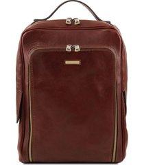 tuscany leather tl141793 bangkok - zaino porta notebook in pelle marrone