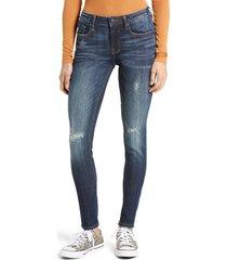 women's vigoss jagger distressed skinny jeans, size 32 - blue