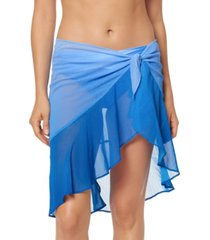 bleu by rod beattie ruffled sarong skirt cover-up women's swimsuit