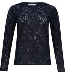 blusa en blonda color negro, talla 10